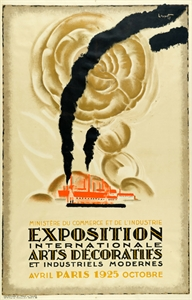 Charles Loupot, Poster for the Paris World Fair of Applied Art in 1925, Lithograph, Stiftung Hamburger Kunstsammlungen