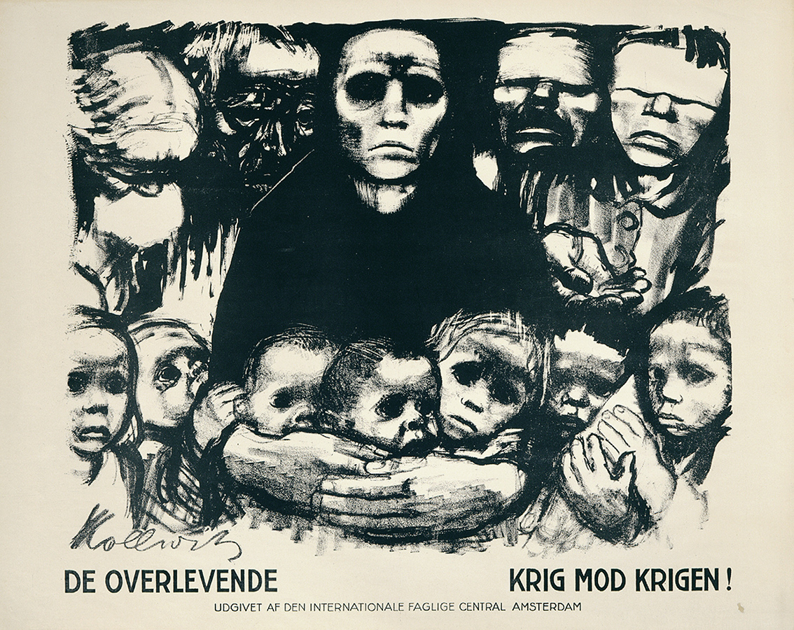 Käthe Kollwitz, Les Survivants, 1923, lithographie au crayon et au pinceau et grattoir (report), Kn 197 II b 2, collection Kollwitz de Cologne © Käthe Kollwitz Museum Köln