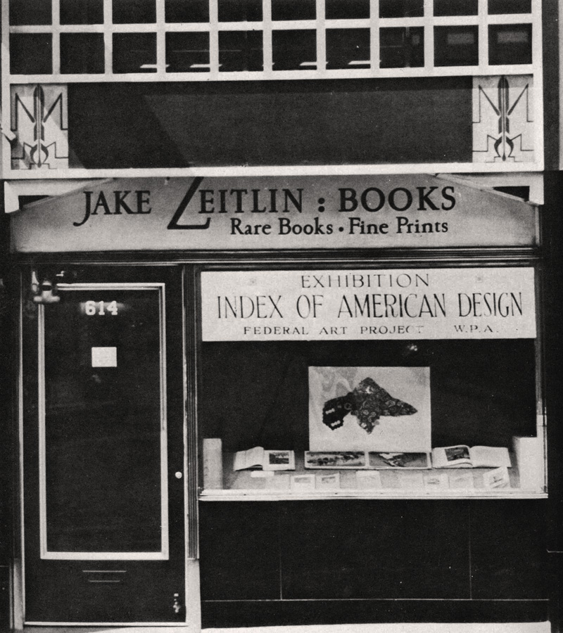 Librairie-galerie Jake Zeitlin, 1937, Photograph inconnu, © Courtesy Eric Lloyd Wright