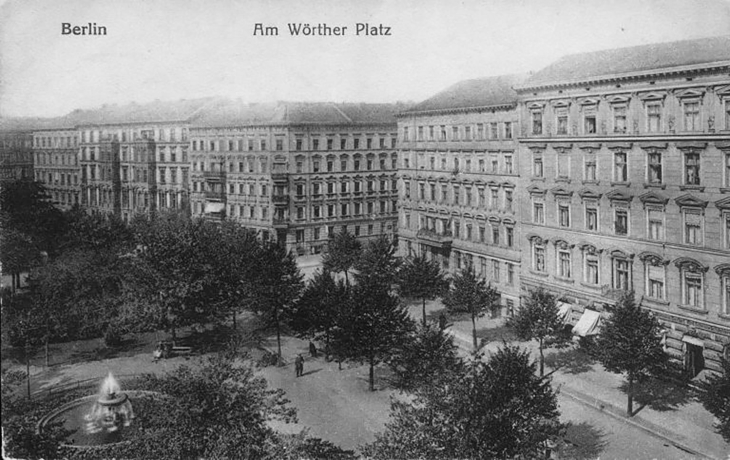 The house of the Kollwitz family in Weissenburger Str. 25, before November 1942, photographer unknown, historical postcard
