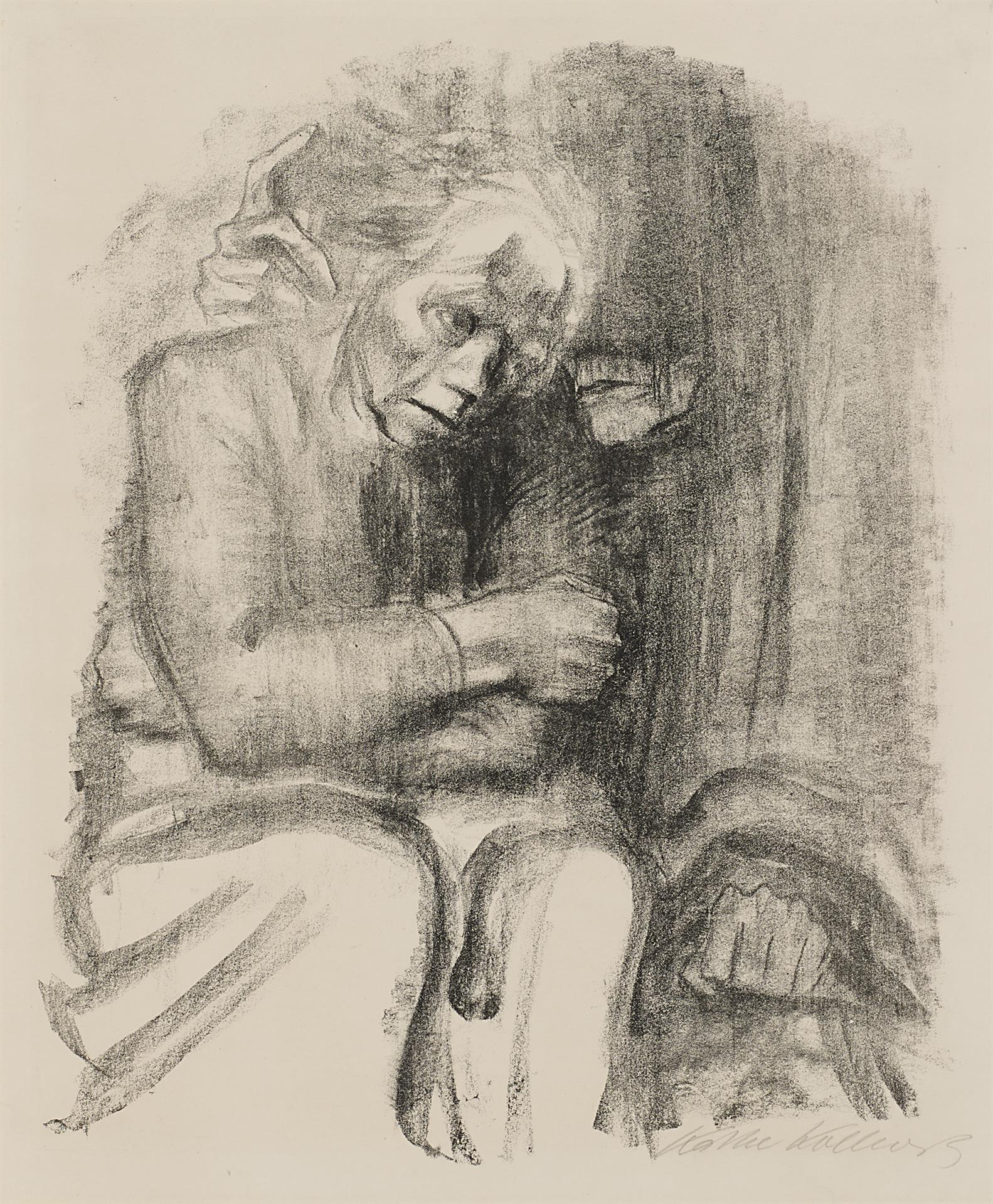 Käthe Kollwitz, Departure and Death, 1923, crayon lithograph (transfer), Kn 200, Cologne Kollwitz Collection © Käthe Kollwitz Museum Köln