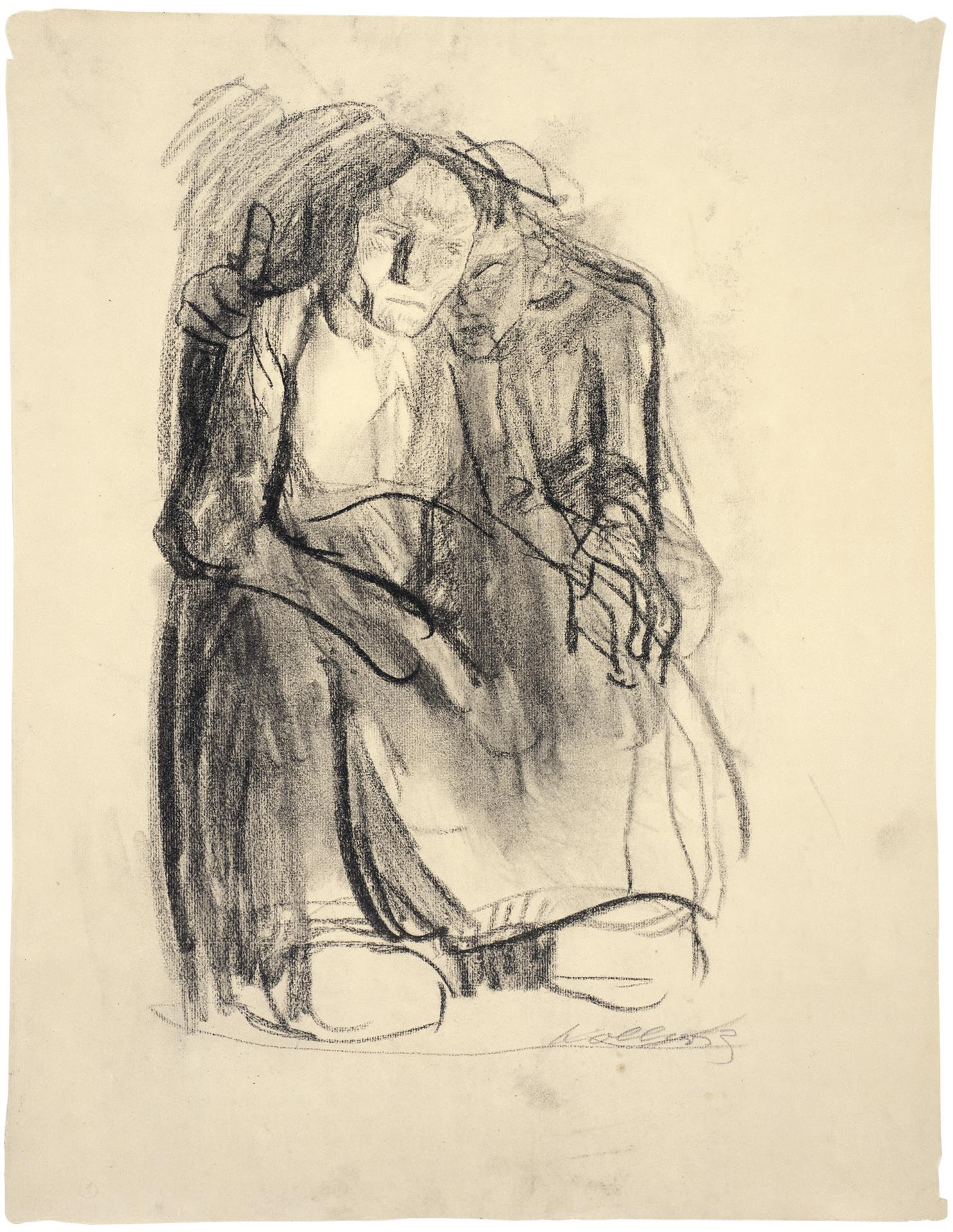Käthe Kollwitz, Inspiration, 1904/1905, charcoal on Ingres paper, NT 296, Cologne Kollwitz Collection © Käthe Kollwitz Museum Köln