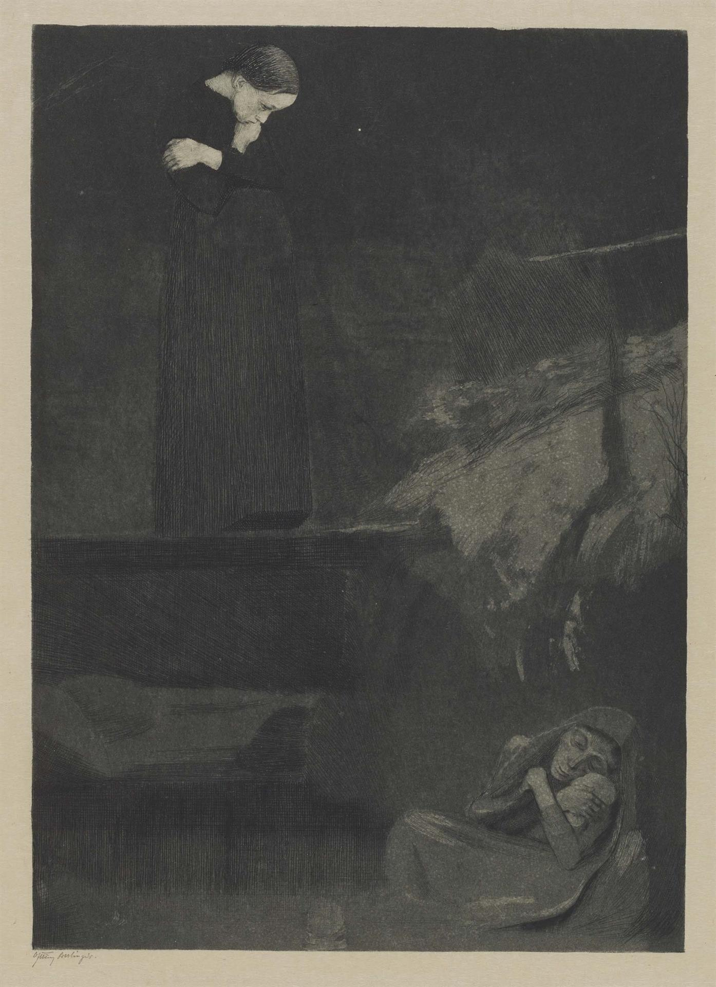 Käthe Kollwitz, Gretchen, 1899, line etching, drypoint, aquatint and burnisher, Kn 45 IV, Cologne Kollwitz Collection © Käthe Kollwitz Museum Köln