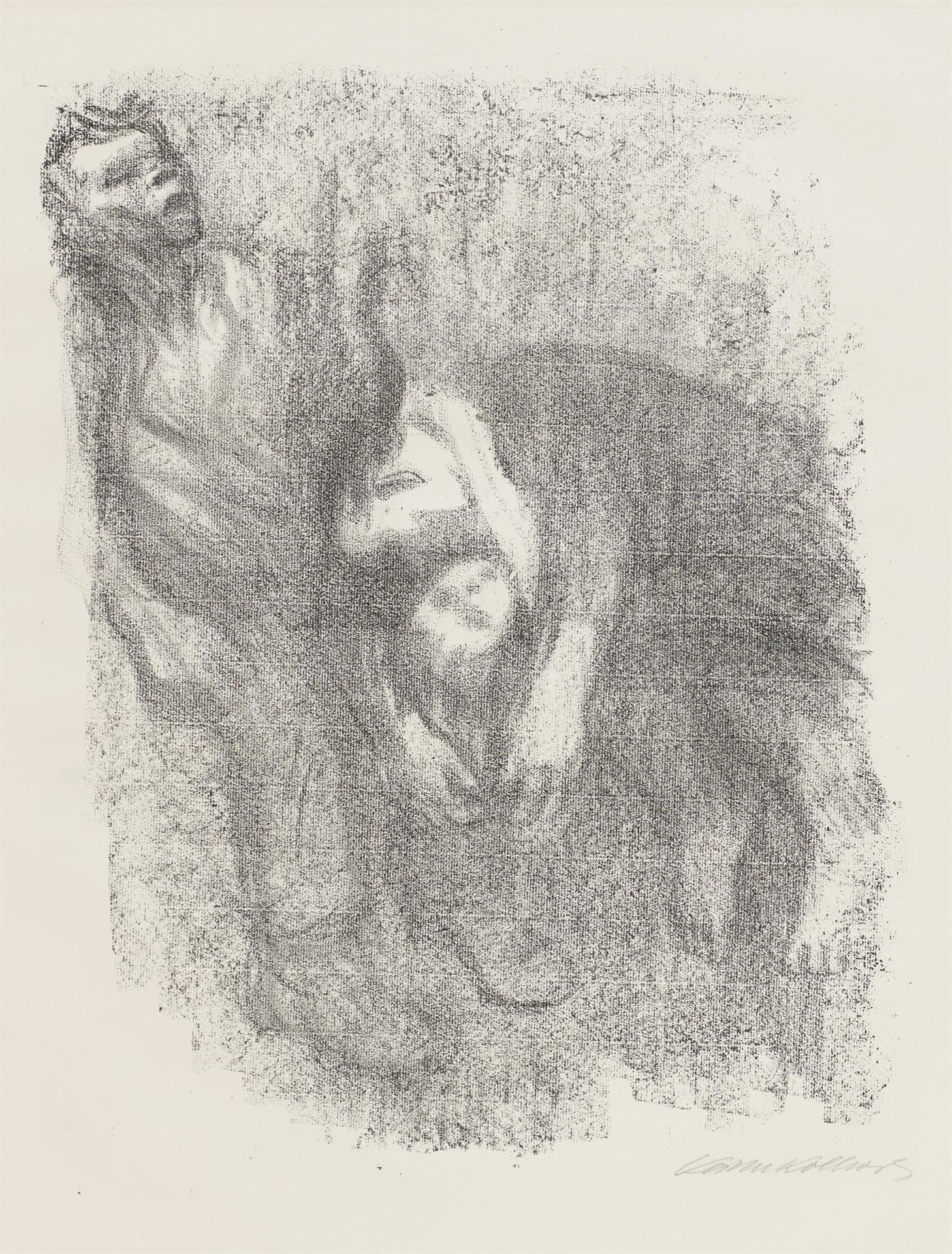 Käthe Kollwitz, Death in the Water, sheet 7 of the series »Death«, 1934, crayon lithograph, Kn 268 b, Cologne Kollwitz Collection © Käthe Kollwitz Museum Köln