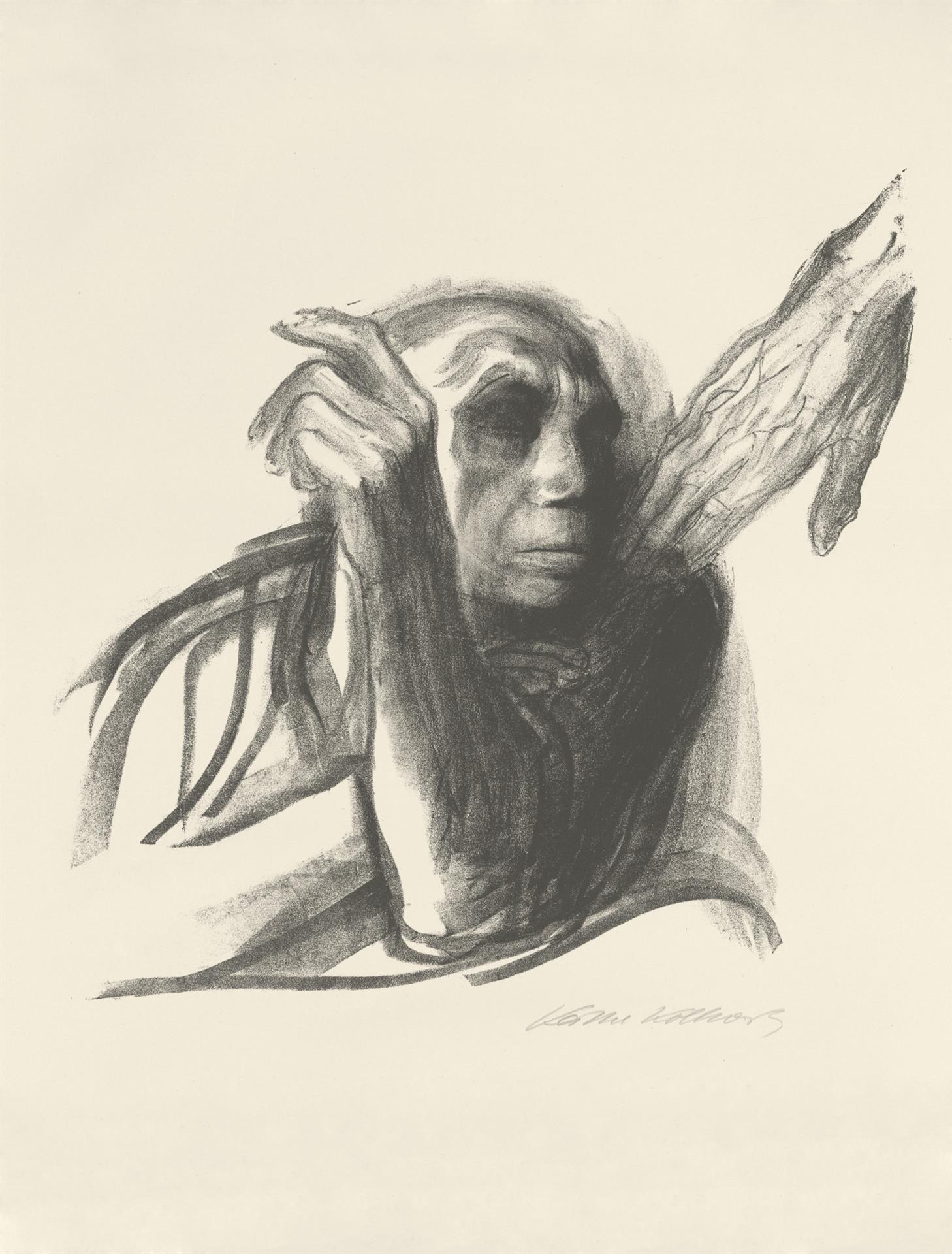 Käthe Kollwitz, Call of Death, sheet 8 of the series »Death«, 1937, crayon lithograph, Kn 269 b, Cologne Kollwitz Collection © Käthe Kollwitz Museum Köln