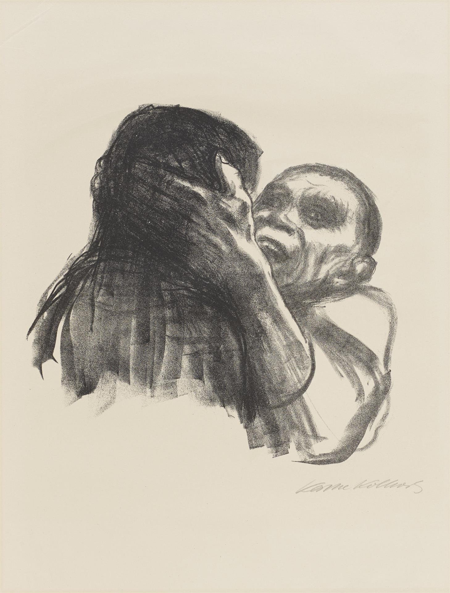 Käthe Kollwitz, Death is recognized as Friend, sheet 6 of the series »Death«, 1937, crayon lithograph, Kn 271 b, Cologne Kollwitz Collection © Käthe Kollwitz Museum Köln