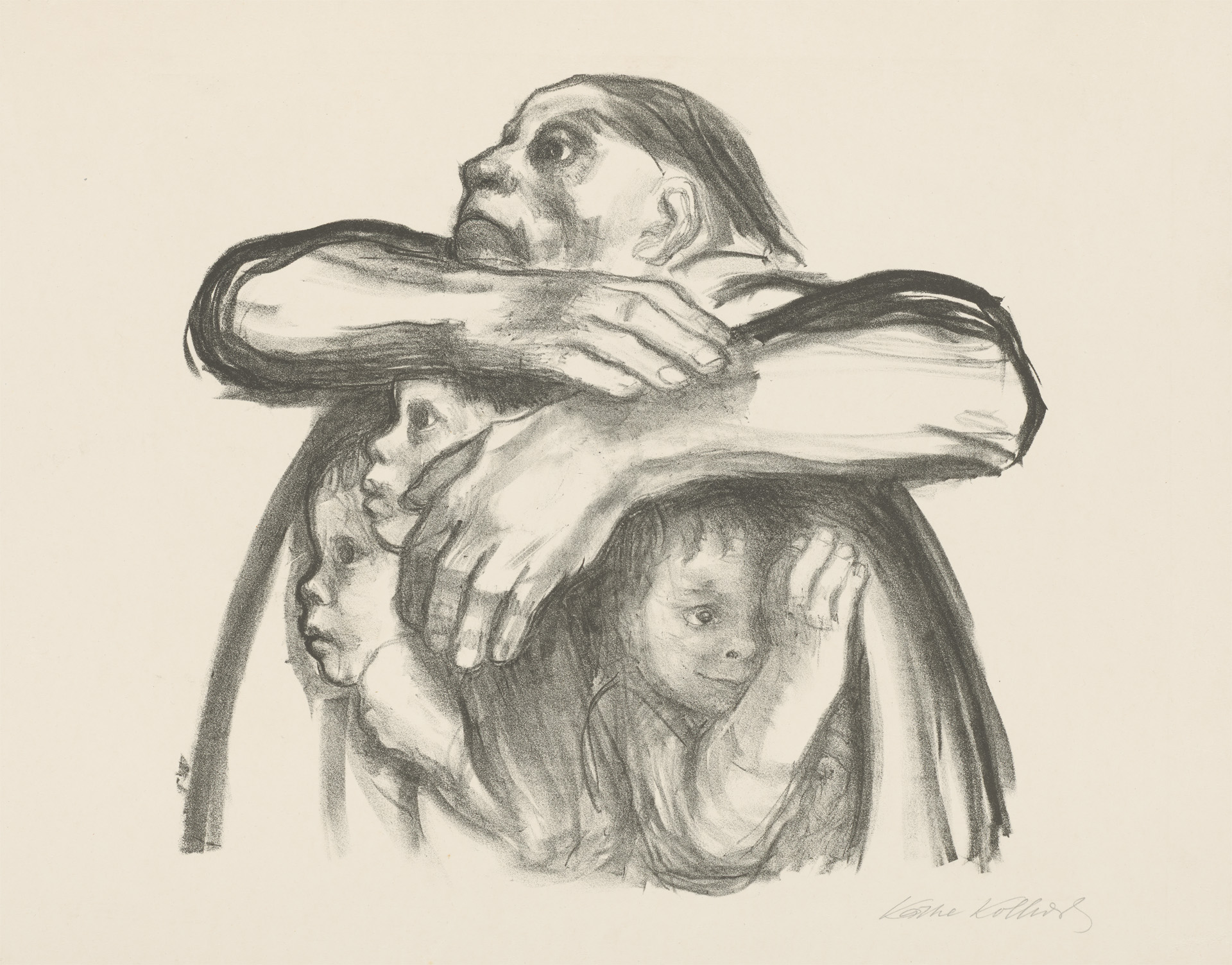 Käthe Kollwitz, »Seed for sowing should not be milled«, 1941, crayon lithograph, Kn 274, Cologne Kollwitz Collection © Käthe Kollwitz Museum Köln