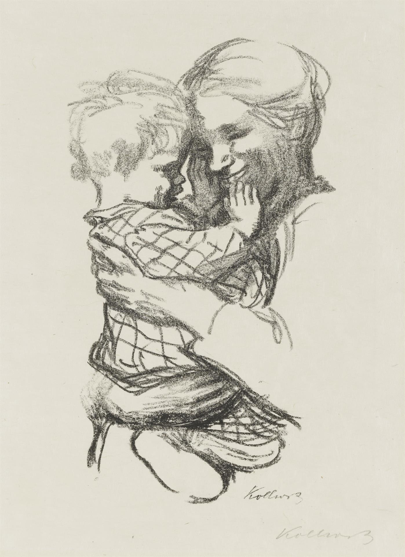 Käthe Kollwitz, Mother with a Child in her Arms, final version, 1916, crayon lithograph (transfer), Kn 136 A II, Cologne Kollwitz Collection © Käthe Kollwitz Museum Köln
