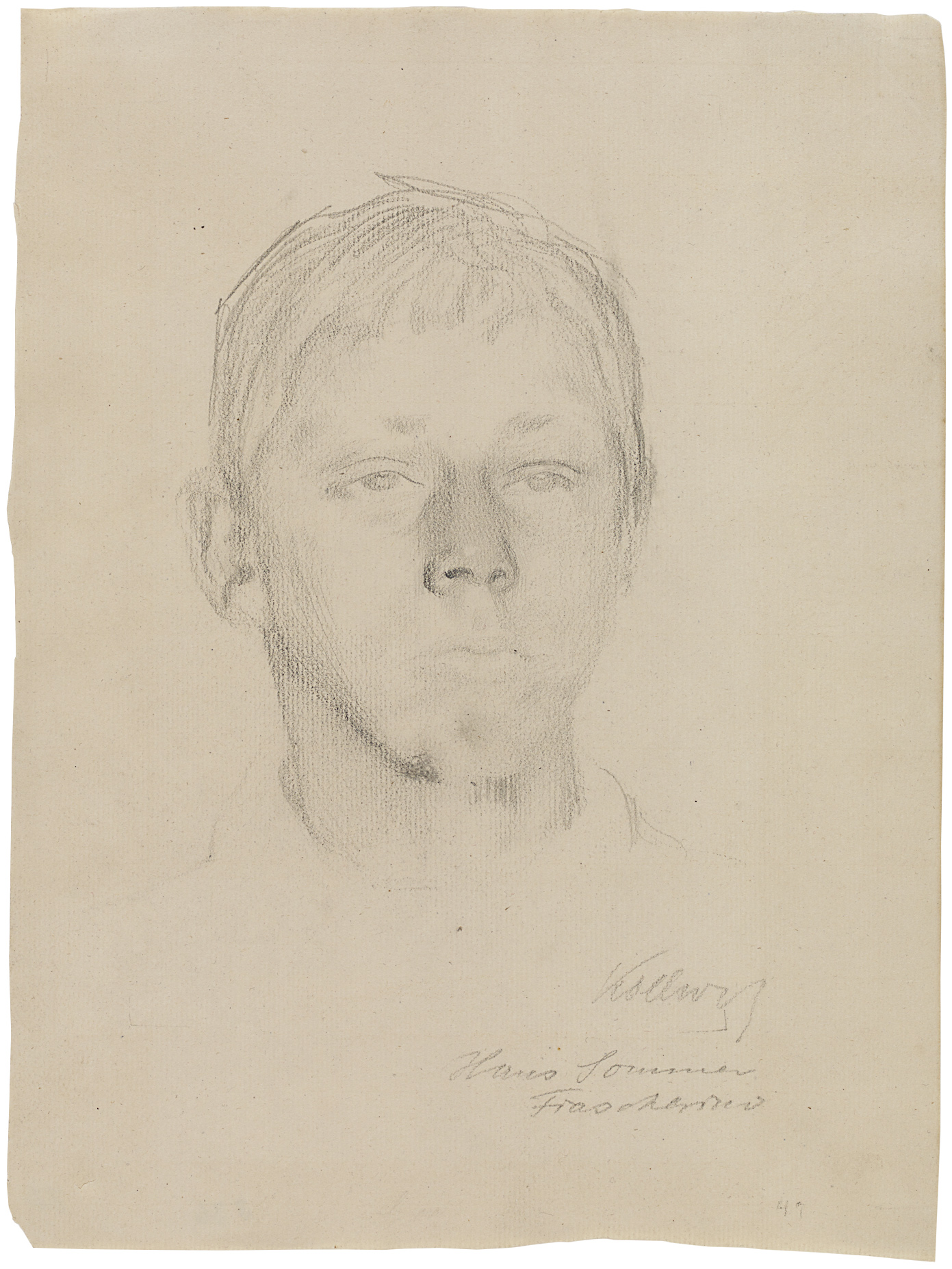Käthe Kollwitz, Hans, Summer in Fiascherino, July 1907, pencil on paper, NT 424, Cologne Kollwitz Collection © Käthe Kollwitz Museum Köln