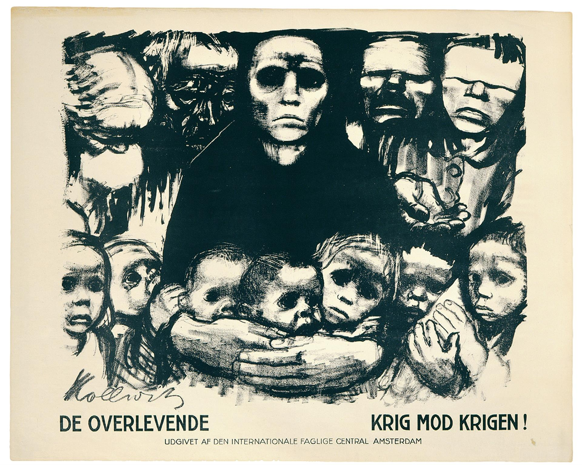 Käthe Kollwitz, Poster »The Survivors«, before August 1923, crayon and brush lithograph with scratch technique (transfer), Kn 197 II b, Cologne Kollwitz Collection © Käthe Kollwitz Museum Köln
