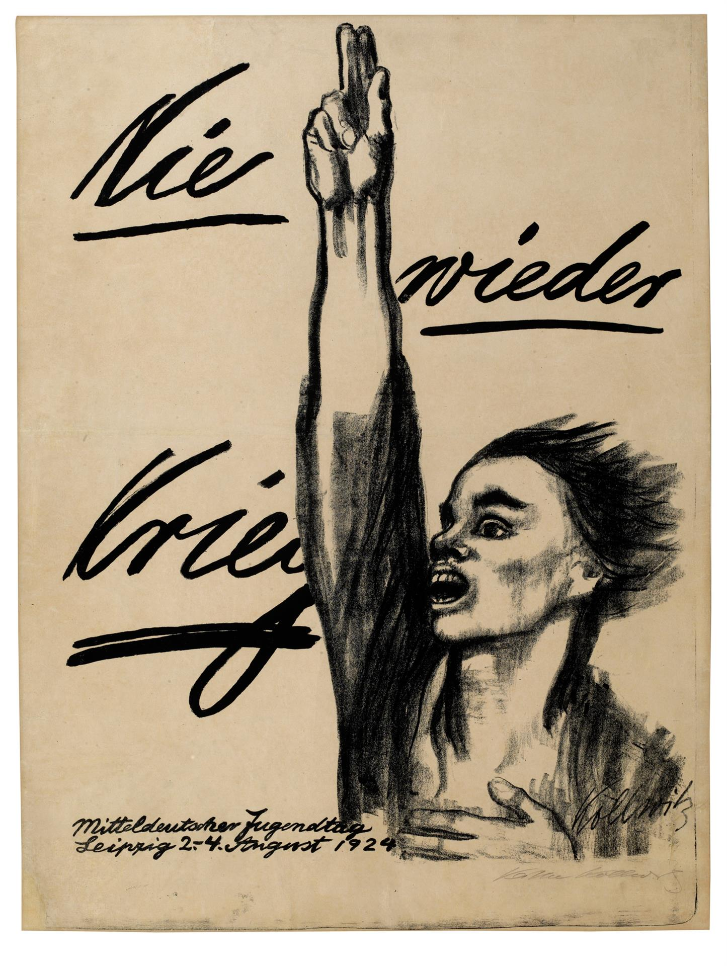 Käthe Kollwitz, Poster »Never Again War«, 1924, crayon and brush lithograph (transfer), Kn 205 III b, Cologne Kollwitz Collection © Käthe Kollwitz Museum Köln