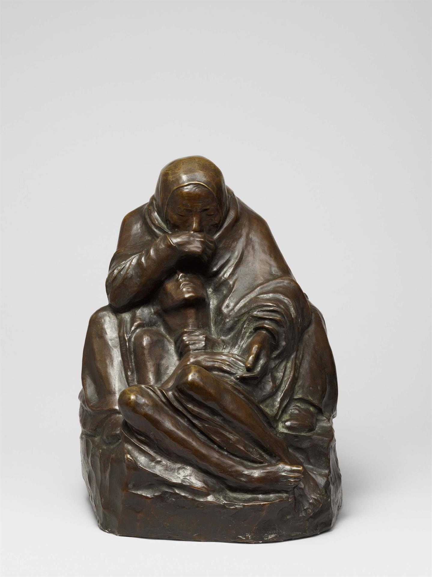 Käthe Kollwitz, Pietà (Mother with dead Son), 1937-1939, bronze, Seeler 37 II.B.1., Cologne Kollwitz Collection © Käthe Kollwitz Museum Köln