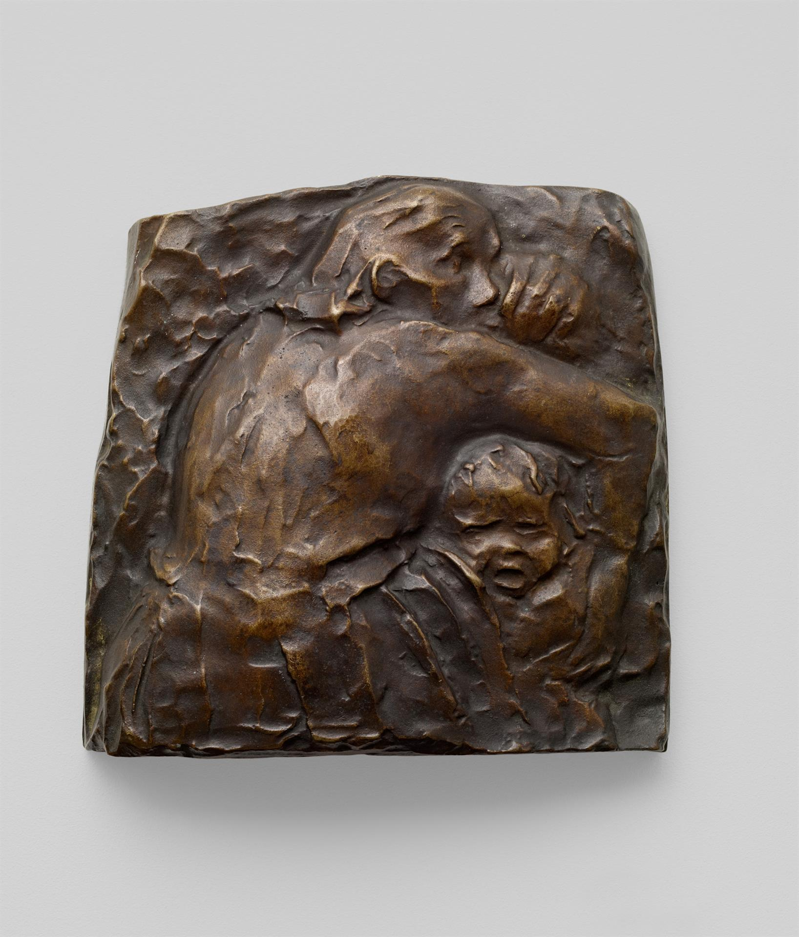 Käthe Kollwitz, Mother protecting her Child I, 1941, bronze, Seeler 41 I.B.1., Cologne Kollwitz Collection © Käthe Kollwitz Museum Köln