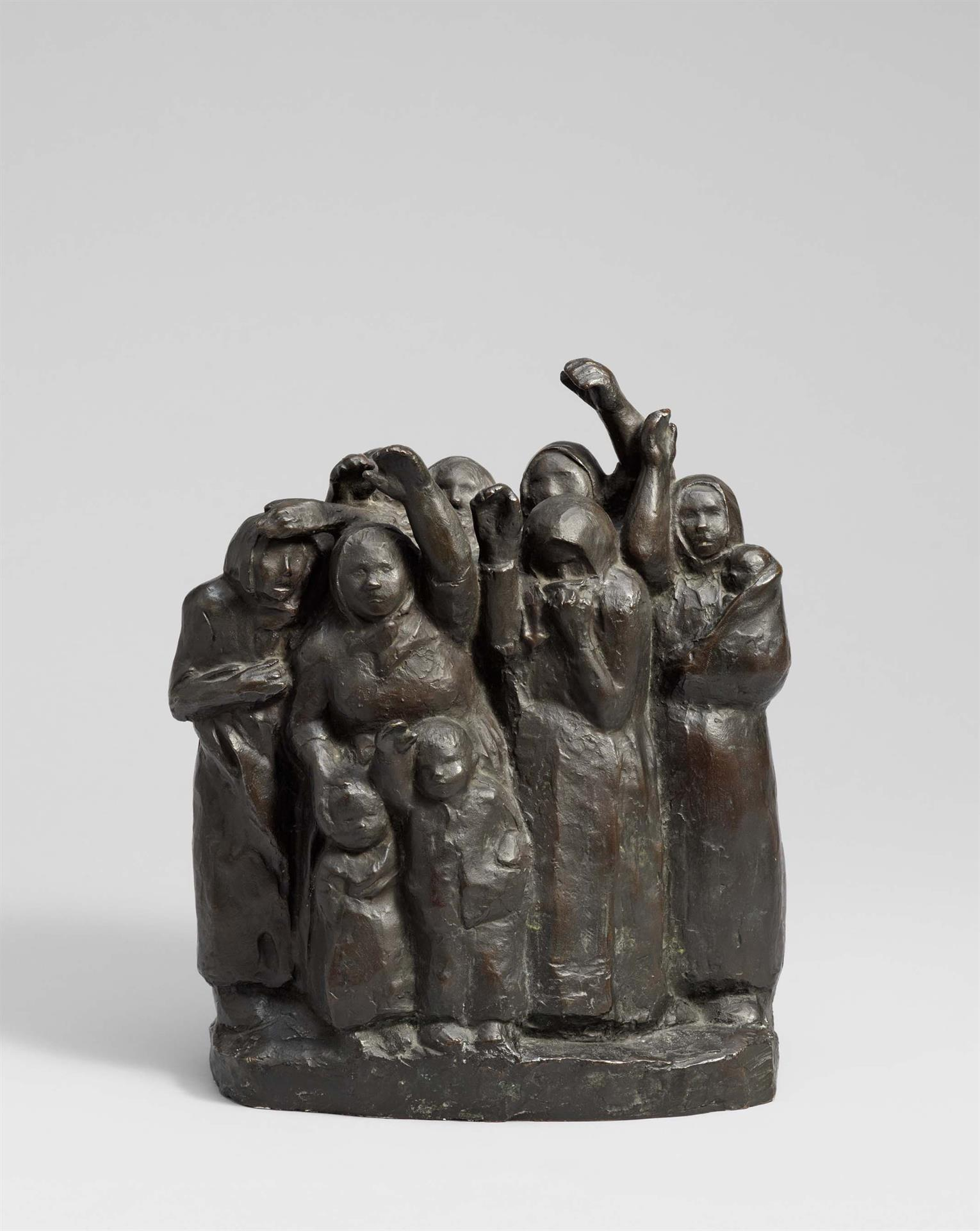 Käthe Kollwitz, Soldiers' Wives Waving Farewell, 2nd version, 1937/1938, bronze, Seeler 32 I.B.2., Cologne Kollwitz Collection © Käthe Kollwitz Museum Köln