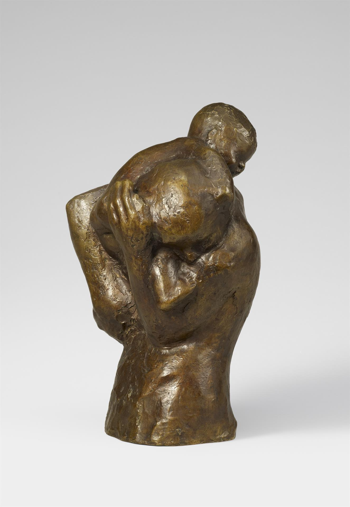 Käthe Kollwitz, Mother with Child over her Shoulder, before 1917, bronze, Seeler 15 I.B.3., Cologne Kollwitz Collection © Käthe Kollwitz Museum Köln