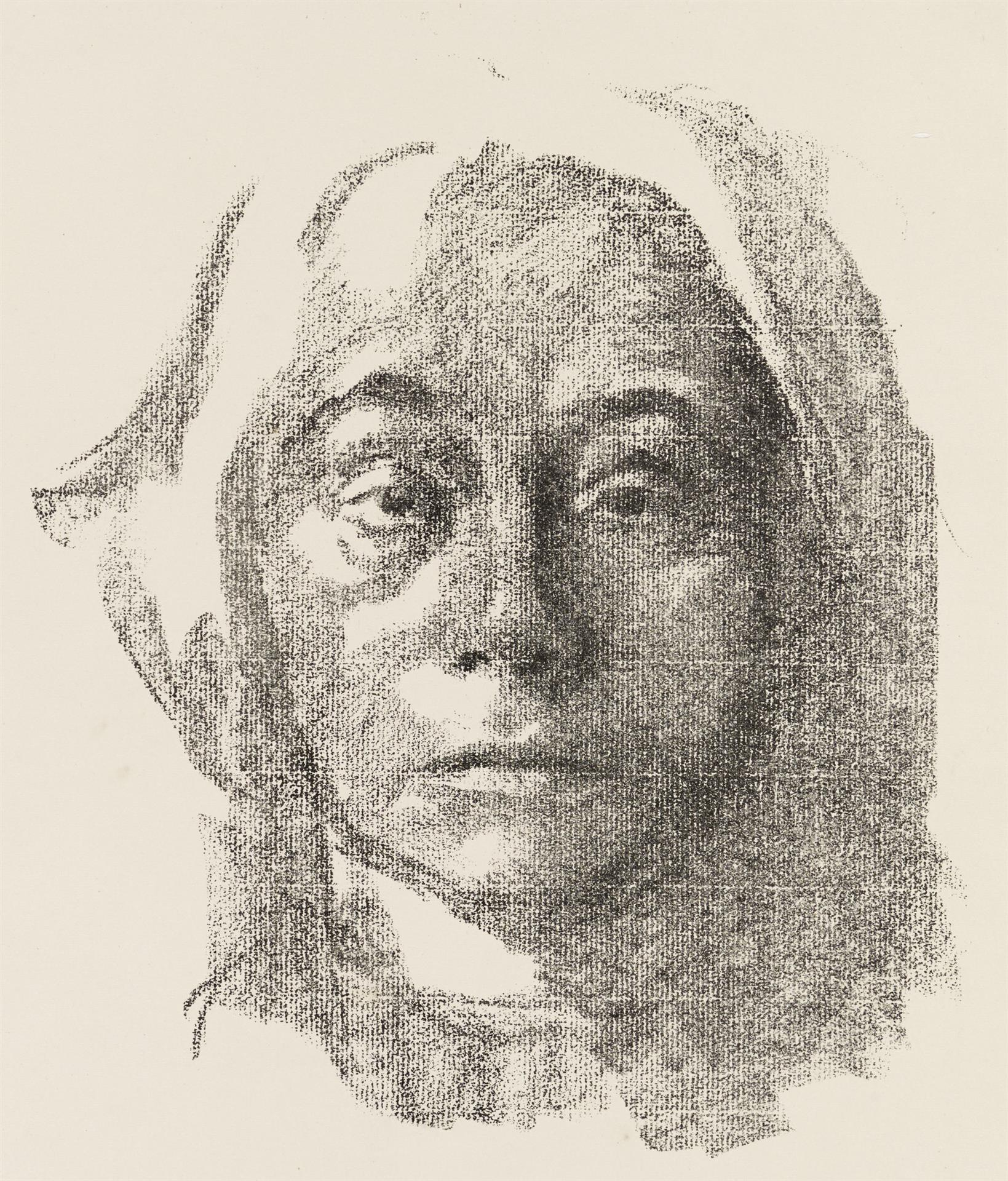 Käthe Kollwitz, Self-portrait, 1915, crayon lithograph (transfer), Kn 134 c, Cologne Kollwitz Collection © Käthe Kollwitz Museum Köln