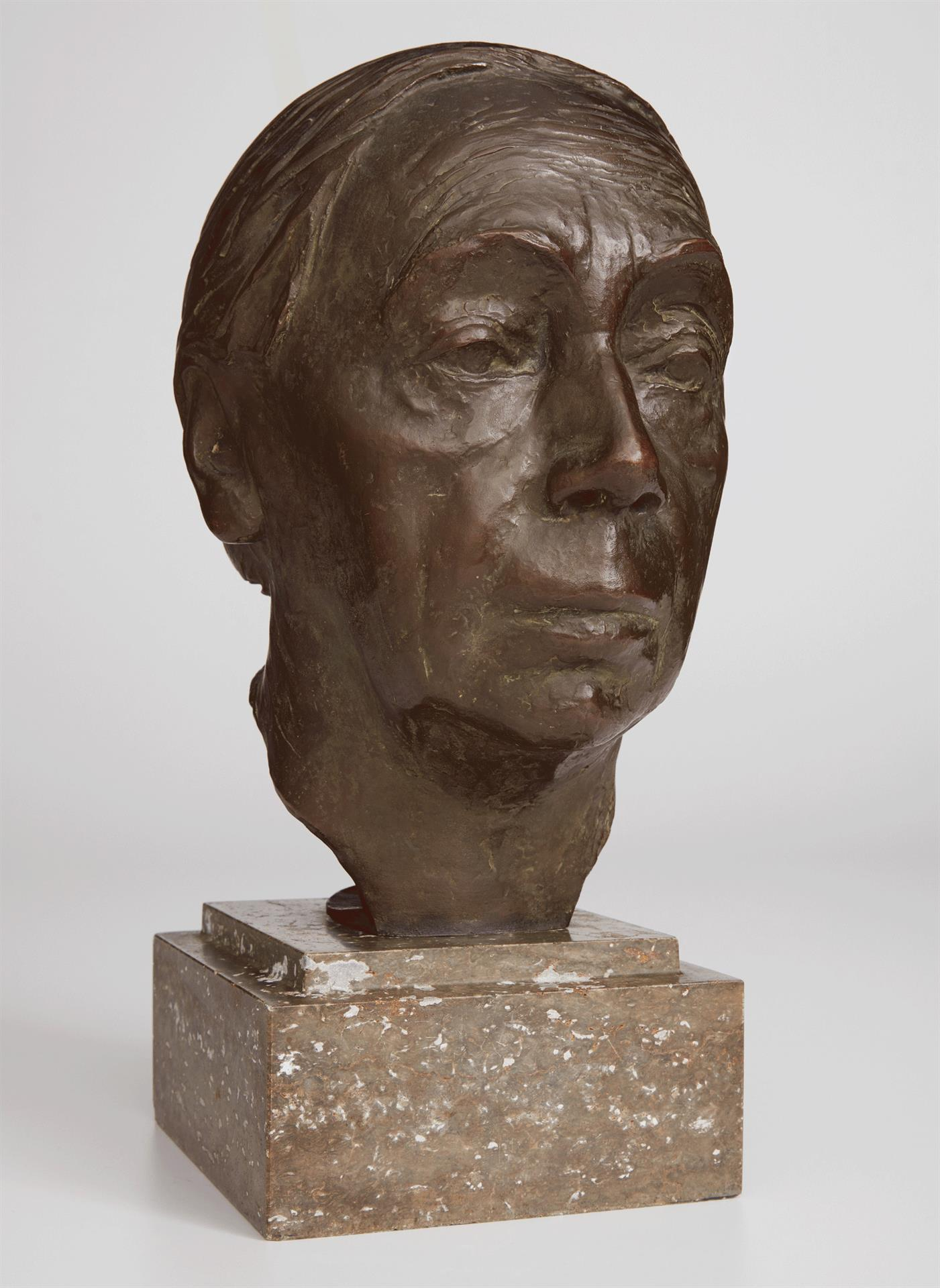 Käthe Kollwitz, Self-portrait, 1926-36, bronze, Seeler 26 I.B.3., Cologne Kollwitz Collection © Käthe Kollwitz Museum Köln